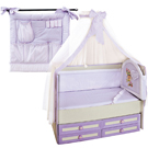 Бампера, балдахины, карманы в кроватку