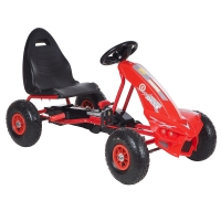 Педальный Картинг ANHUITECH DIABLO, надувные колеса, 113х59.5х61.5, Красный
