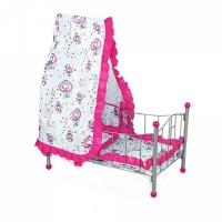 FEI LI TOYS Кукольная кроватка 56,5х32,5х72 см, розовый, FL988