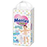 Трусики Merries, размер L, от 9 до 14 кг, 44 шт