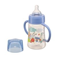"Бутылочка с ручками Happy Baby ""Baby bottle"", 250 мл., Lilac 10008L"