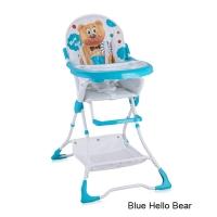 Стульчик для кормления Lorelli Bravo Синий / Blue Hello Bear 1718