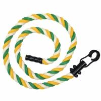 Канат для лазания 2,3м D29мм зелено-желто-белый