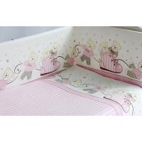 Комплект в кроватку 6 предметов Pituso МИШКИ Розовый