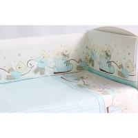 Комплект в кроватку 6 предметов Pituso МИШКИ Голубой