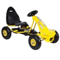 Педальный Картинг ANHUITECH DIABLO, надувные колеса, 113х59.5х61.5, Желтый