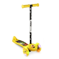 Самокат со светящимися колесами Small Rider Scooter Flash (CZ) (желтый)