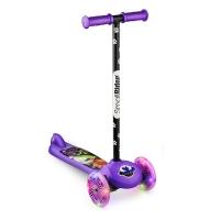 Самокат со светящимися колесами Small Rider Scooter Flash (CZ) (фиолетовый)