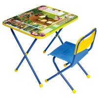 "Комплект мебели (стол+стул) ""Маша и Медведь"" Позвони мне арт. КП/6, Ника"