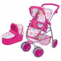 FEI LI TOYS Кукольная коляска 2 в 1 , розовый FL8192