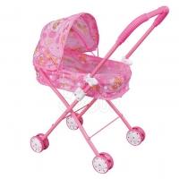 FEI LI TOYS Кукольная коляска 35,5х26,5х65 см, розовый, FL6068-A