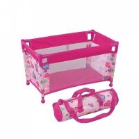 FEI LI TOYS Кукольный манеж с сумкой 52х31х31 см, розовый, FL8152