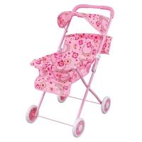 FEI LI TOYS Кукольная коляска-трость 42х34,5х63 см, розовый, FL729