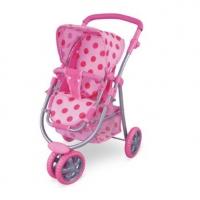 FEI LI TOYS Кукольная 3-колесная коляска 54х39х65 см, розовый, FL8180-1