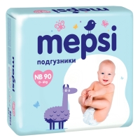 Mepsi Подгузники NB от 0 до 6 кг, 90 шт