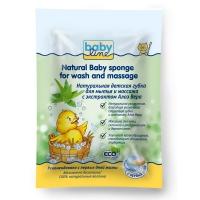 Губка натуральная для мытья и массажа с алоэ вера Babyline ДВ051