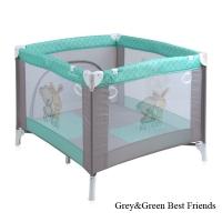 Манеж Lorelli Play Station Серо-зеленый/ Grey&Green Friends 1704