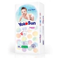 Трусики Yoko Sun размер L, от 9 до 14 кг, 44 штуки