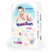 Трусики Yoko Sun размер M, от 6 до 10 кг, 58 штук