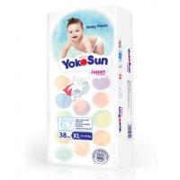Трусики Yoko Sun размер XL, от 12 до 20 кг, 38 штук
