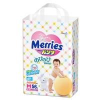Трусики Merries, размер M, от 6 до 10 кг, 58 шт