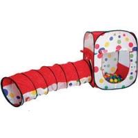 Игровой домик (Квадрат+ туннель) + 100 шаров, Calida 631