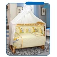 Комплект в кроватку Маленькие джунгли розов, 7предм, Leader Kids 102571