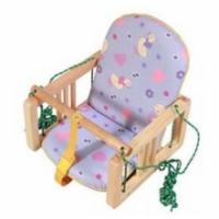 """Качели деревянные подвесные """"Гном"""" с мягким сиденьем, Дети"""