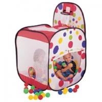 Игровой дом+ 100 шаров (квадрат с баскетб. кольцом) Calida 626