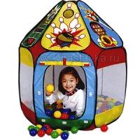 Игровой складной дом + 150 шаров (домик СПОРТ), Calida 678
