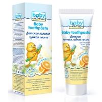 Детская гелевая зубная паста со вкусом Апельсина, 75мл, Babyline ДВ012