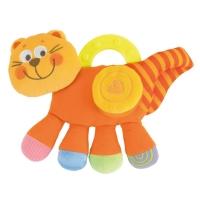 """Мягкая игрушка с прорезывателем """"Котенок оранжевый"""", Chicco 71346"""
