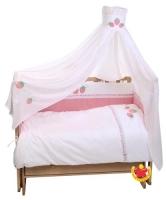 Комплект в кроватку Клубничка, 7 предметов, Leader Kids 102771