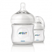 Бутылочка для кормления, 125 мл, 2 шт, Avent Natural 86485