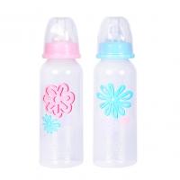 Бутылочка пластиковая, соска средний поток, 240 мл, 6+ м, ПОМА 2210
