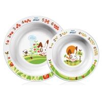 Набор из 2-х глубоких тарелок (большая и малая) Avent, БЕЛЫЙ