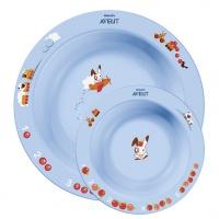 Набор из 2-х глубоких тарелок (большая и малая) Avent, ЦВЕТНОЙ