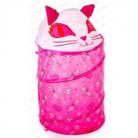 """Корзина для игрушек """"Кошка розовая"""" 191"""