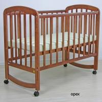 Кроватка Фея 304 (колесо-качалка, автостенка, накладки ПВХ)