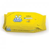 Салфетки очищающие детские влажные, 80 шт, Ушастый нянь А22273