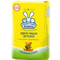 Крем-мыло с алоэ и подорожником, 90 гр, Ушастый нянь А10199
