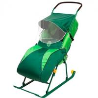 Детские санки-коляска Тимка 2 Комфорт ПЛЮС (с колесиками)