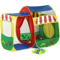 Игровой домик с пристройкой + 100 шаров (142х88х109 см), Calida
