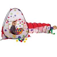 Игровой домик (Конус+ туннель) + 100 шаров, Calida 628