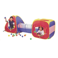 Игровой домик (Конус+ квадрат+ туннель) + 100 шаров, Calida 629S