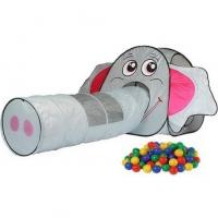 Игровой домик Слон + туннель + 100 шаров, Calida 652