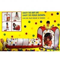 Игровой домик (шестигранник + туннель) + 100 шаров, Calida 632