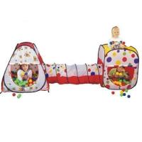 Игровой домик (Конус+ квадрат+ туннель) + 200 шаров, Calida 629