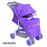 Прогулочная коляска с накидкой на ножки Bambini Neon
