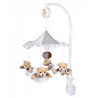 Музыкальный мобиль на кроватку Мишки под зонтиком, Canpol babies 2/374